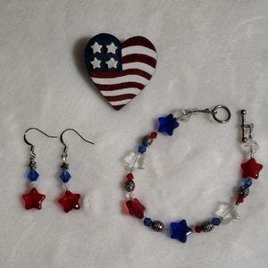 Patriotic 3 piece set